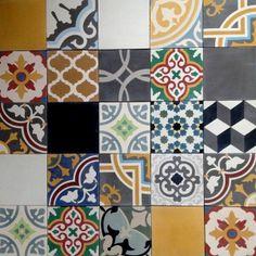 patchwork encaustic tiles 20x20 cm http://www.recuperando.it/en/Pagine/Categoria.asp?IDFam=2&IDCat=528&IDArg=0