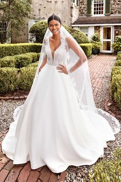 Lace Wedding Dress, Perfect Wedding Dress, Dream Wedding Dresses, Designer Wedding Dresses, Lace Dress, Sincerity Bridal, Cathedral Length Veil, Bridal And Formal, A Line Gown