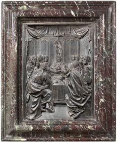 Last Supper, designed by Camillo Procaccini, wax model made by Francesco Brambilla and bronze cast by Giovan Battista Busca. 1596–99