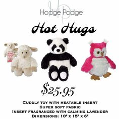 Does your child suffer pain? The Hot Hugs are perfect to use for a child. The insert is removable! I think the panda is adorable.