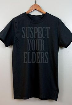 01013de457 Black on black Short-Sleeve T Shirt | Gothic Nu goth All Black Everything Emo  clothing Soft grunge Murdered out | Suspect Your Elders