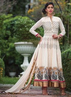 Printed Cotton Silk Ankle Length Anarkali