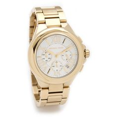 Michael Kors Camille Chronograph Watch ($250) found on Polyvore