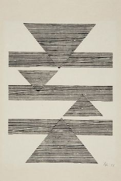 Tecelar (Untitled: Weaving) , 1956 / Lygia Pape / Barres point.