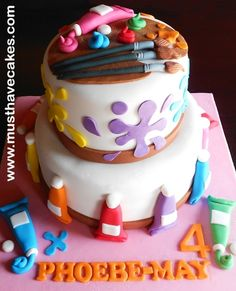 Paint Artist Cake... another really cute one!