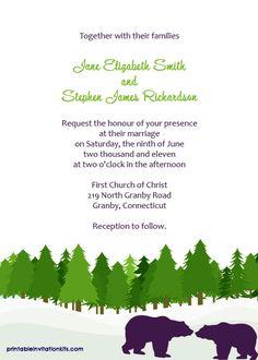 Free Pdf Download Rustic Tree Ring Wedding Invitation Template