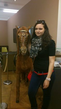 In technical museum in Prague.with horse