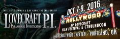 """Meet Fritz Striker and D. Kann the creators of """"Lovecraft P."""" at the HP Lovecraft Film Festival coming this October in Portland! Hollywood Theater, Hp Lovecraft, Film Festival, Portland, The Creator, October, Meet, Movie Party"""