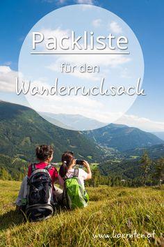 Du willst auf eine Wandertour in Kärnten gehen aber weißt nicht wie du deinen Trekkingrucksack richtig packen sollst? Hier findest du Tipps fürs eine gute Pack-Auswahl. Taschenmesser, Kompass, Proviant, Handy und vieles mehr- mit dieser Checkliste vergisst du keinen Gegenstand zuhause! #wanderurlaub #packlistewandern #wanderrucksack #wandern #urlaubinösterreich #kärnten #trekkingpackliste Mountains, Nature, Travel, Pocket Knives, Compass, Viajes, Traveling, Nature Illustration, Off Grid