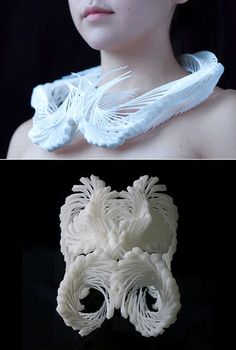 high-concept, 3D-printed collars and cuffs from Pennsylvania's Madlab.cc, headed by Madeline Gannon.