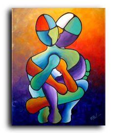 "Fine Prints ""Amants"" #Streetart #figurative #gift #Art #artprints #coolgifts #fineart #prints #acrylic #originalpainting  #abstract #modern #contemporary #colorful #homedecor"