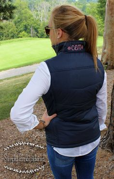 A stylish feminine fit. Keep the warmth centered on your core in our Puffy Vest. These styles are great for layering over our monogrammed