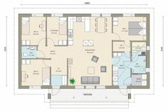 Iso - Talomalli: Kastelli, City 121 / 137 H New House Plans, Future House, New Homes, Floor Plans, How To Plan, House Ideas, Design, Houses, Homes