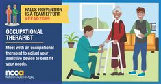 Today is Falls Prevention Awareness Day. Preventing falls is a team effort. Make sure your assistive devices are adjusted fit your needs. Get more tips on preventing falls at Primary Care Physician, Balance Exercises, Occupational Therapist, Home Health Care, Social Media Images, Injury Prevention, Physical Therapy, Teamwork, A Team