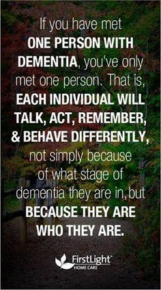 So so true of Differential issues in dementia/dementia related brain illnesses.