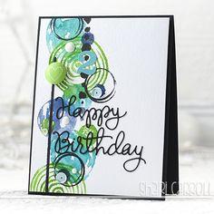 card from Shari Carroll using Hero Arts stamps & distress inks Birthday Cards For Men, Handmade Birthday Cards, Boy Cards, Cute Cards, Card Making Inspiration, Making Ideas, Beautiful Handmade Cards, Scrapbook Cards, Scrapbooking