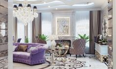 Дизайн интерьера гостиной - миниатюра 7 Living Room Designs, Oversized Mirror, Accent Chairs, Furniture, Luxury Mansions, Home Decor, 3d, Interior Design, Interiors