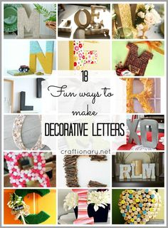 Make easy and creative decorative letters. Want to the book page letters in READ for a bookcase.