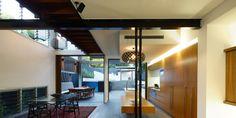 Kina 800mm by David Trubridge looks fantastic in this kitchen by Shaun Lockyer Architects.