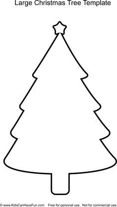 Christmas Tree Template | school | Pinterest | Christmas tree ...