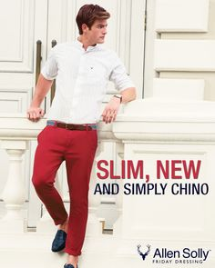 There's a new look in town. Get it at your nearest Allen Solly. #chinos #menswear #fashion #style #mensfashion