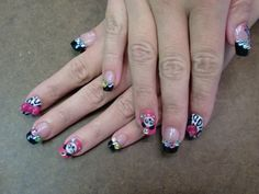 my pandas Kawaii Nails, 3d Nails, Nail Designs, Coconut, Pink, Beauty, Hawaii, Style, Amazing