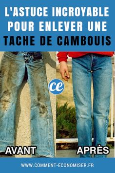Le+Truc+Incroyable+Pour+Enlever+une+Tache+de+Cambouis+Sur+un+Jeans. Cleaning Hacks, How To Plan, Cleaning, Lift Off, Tips And Tricks, Cleanser, Cleaning Tips