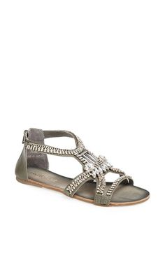 Love these blinged out sandals
