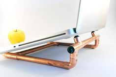 Items similar to Copper Laptop Stand on Etsy Wooden Man, Wooden Desk, Wooden Gifts, Handmade Wooden, Wooden Laptop Stand, Laptop Tray, Laptop Desk, Rain Design, Portable Desk