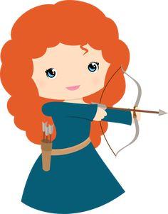 Free Princess Merida Brave Clip Art - Princesses & Tiaras ~ Princess Party…