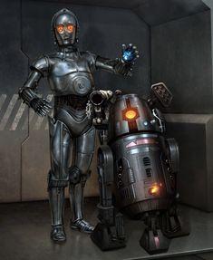 Droides Star Wars, Star Wars Droids, Star Wars Film, Star Wars Fan Art, Star Wars Pictures, Star Wars Images, Star Wars Characters, Star Wars Episodes, Edge Of The Empire