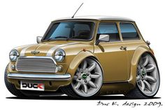 older mini coopers | Old MINI COOPER cartoon car added to the CARTOON CARS / MINI gallery.