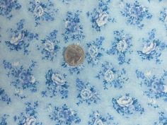 ROYAL ALBERT FABRIC IN THE LADY CARLYLE CHINA PATTERN #3. BLUE BACKGROUND WITH BLUE ROSES. BY WOODROW STUDIOS, LONDON. If you see something you like, GET IT BEFORE IT IS GONE. | eBay!