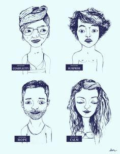 Emocionario II by De Hermo / illustration faces