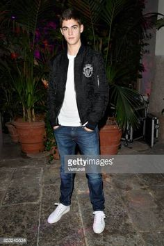 Hero Fiennes-Tiffin attends Dolce & Gabbana Queen Of Hearts Party show during Milan Fashion Week Spring/Summer 2018 at on September 2017 in Milan, Italy. Get premium, high resolution news photos at Getty Images