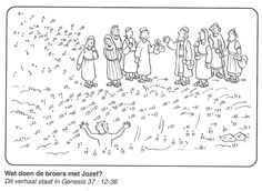 Joseph thrown into the pit Genesis 37 Dot-to-dot Printable Sunday School