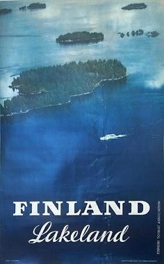 "Vintage Finland ""Lakeland"" poster"
