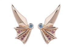 These rose gold-plated studs are mythical and magical, the wing shape is inspired by Pegasus £525
