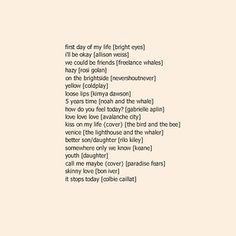 This collection of cute songs for tuning out the world and focusing on yourself: | 29 Playlists For When You're Going Through A Hard Time