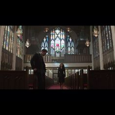 Steve and Natasha at Peggy's funeral < this looks extremely painful I AM NOT READY FOR THIS<<<The cinematography though. That church is gorgeous!