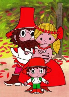 From czech short series for children about a kind bandit Rumcajs, his wife Manka and a son Cipísek. Good Old Times, Artist Names, String Art, Tigger, Childhood Memories, Embroidery Patterns, Colorful Backgrounds, Jigsaw Puzzles, Fairy Tales