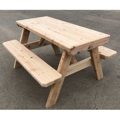 Olhouser Kids Picnic Table and Chair Set Kids Folding Table, Kids Table Chair Set, Table And Bench Set, Round Table And Chairs, Kid Table, Little Tikes Picnic Table, Diy Picnic Table, Kids Picnic Table Plans, Woodworking Projects Diy