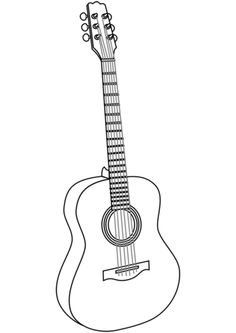 Shape Coloring Pages, Easy Coloring Pages, Free Printable Coloring Pages, Coloring Sheets, Music Drawings, Art Drawings Sketches Simple, Pencil Art Drawings, Easy Drawings, Instruments