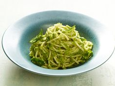 Using asparagus in a pesto with olive oil, Parmigiano-Reggiano, basil and lemon juice creates a very fresh, green and spring-like sauce for pasta. Pesto Sauce, Pesto Recipe, Asparagus Recipe, Pesto Pasta, Wine Recipes, Great Recipes, Giada Recipes, Fast Recipes, Sauce Recipes