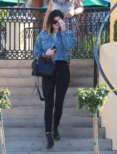April 4, 2014 -Kylie Jenner out in Calabasas.
