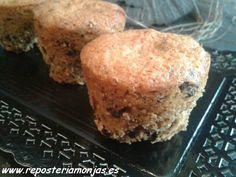 Muffins con nuestas rosquillas y trocitos de chocolate