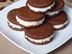 Ciasteczka czekoladowe z nadzieniem kokosowym