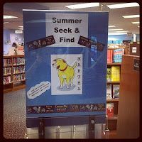 "Summer ""Seek and Find"" passive program: put a sign up with a picture of character kids need to find (hide a paper print out of the character somewhere in stacks)."