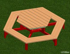 Build a Hexagon Picnic Table Step 30.jpg