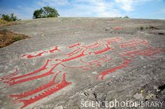 Nordic bronze age petroglyph in Himmelstalund, Sweden (high sky country)